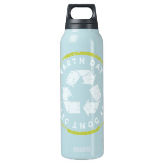Earth Day Enjoy Dont Destroy Insulated Water Bottle