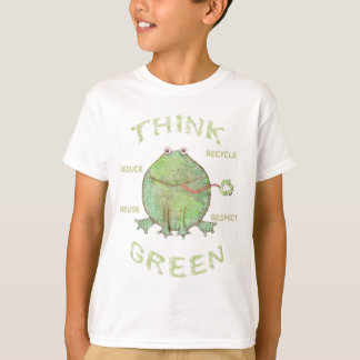 Earth Day Environment Grungy Global Frog T-Shirts
