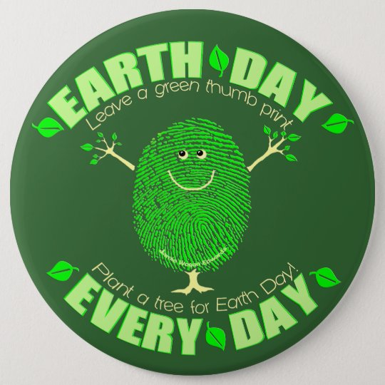 Earth Day Environmental Button