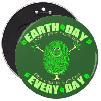 Earth Day Environmental Pinback Buttons