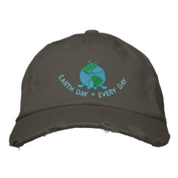 Earth Day Environmental Embroidered Baseball Cap
