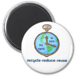 Earth Day Environmental Frog 2 Inch Round Magnet