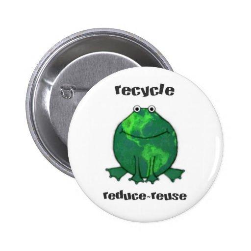 Earth Day Environmental Frog Pins