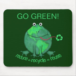 Earth Day Environmental Frog Mouse Pad