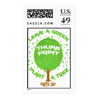Earth Day Environmental Frog Postage Stamp