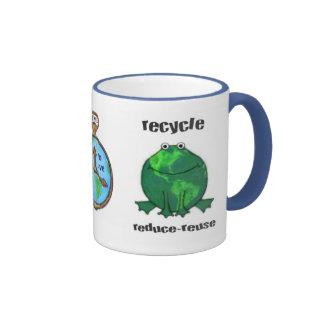 Earth Day Environmental Frog Ringer Mug