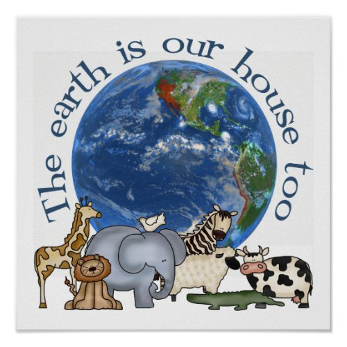 Earth Day/Environmental Poster zazzle_print