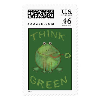 Earth Day Environmental Slot Machine Postage Stamp