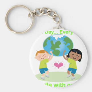 Earth Day Every Day 01 Keychain