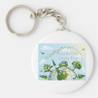 Earth Day Every Day 02 Keychain