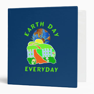 Earth Day Every Day 3 Ring Binder
