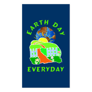 Earth Day Every Day Double-Sided Standard Business Cards (Pack Of 100)