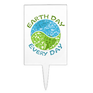 Earth Day Every Day Cake Toppers