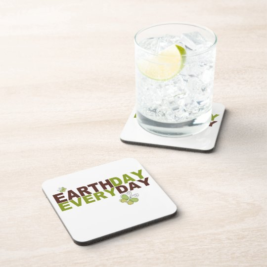 Earth Day Every Day Drink Coaster