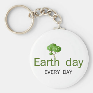 Earth Day every day! Keychain
