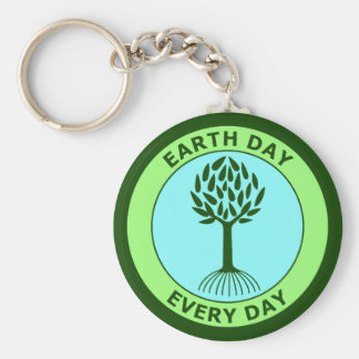 Earth Day Every Day Keychain