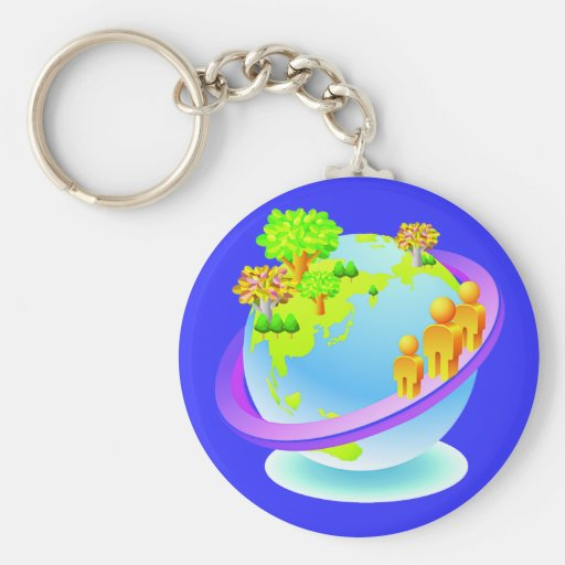 Earth Day Every Day Keychains
