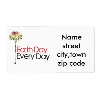 Earth day every day label