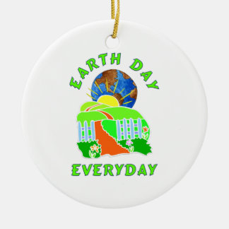 Earth Day Every Day Ornaments