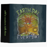 Earth Day Every Day Personalized 3 Ring Binders