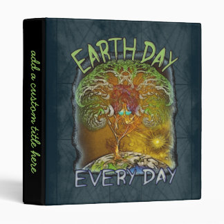 Earth Day Every Day Personalized Binder