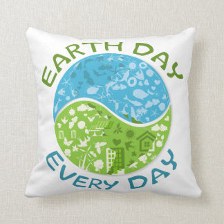 Earth Day Every Day Pillows