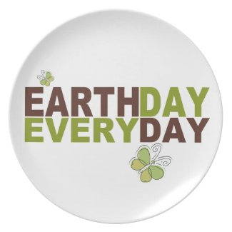 Earth Day Every Day Plate