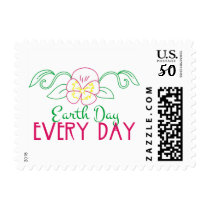 Earth Day Every Day Postage