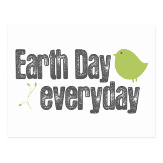 Earth day every day! postcard