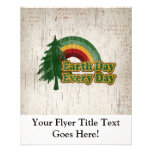 "Earth Day Every Day, Retro Rainbow 4.5"" X 5.6"" Flyer"