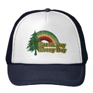 Earth Day Every Day, Retro Rainbow Trucker Hat