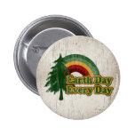 Earth Day Every Day, Retro Rainbow Pin