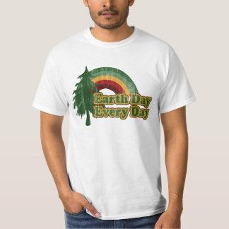 Earth Day Every Day, Retro Rainbow T-Shirt