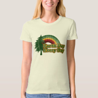 Earth Day Every Day, Retro Rainbow T-Shirt