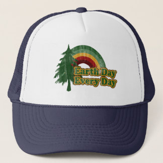 Earth Day Every Day, Retro Rainbow Trucker Hat