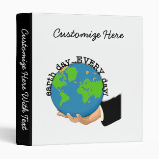 Earth Day Every Day T-shirts and Gifts Binder