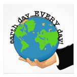Earth Day Every Day T-shirts and Gifts Custom Invites
