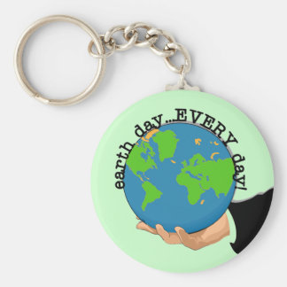 Earth Day Every Day T-shirts and Gifts Keychain