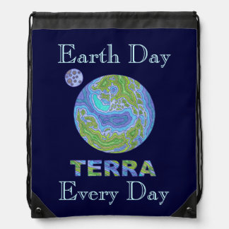 Earth Day Every Day Terra Planet Earth Backpack