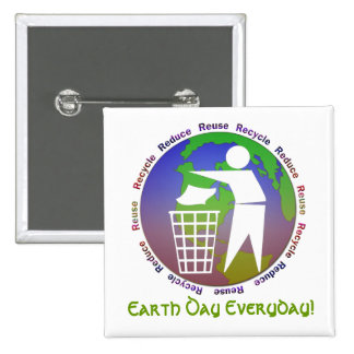 Earth Day Everyday Button