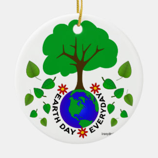 Earth Day Everyday Ceramic Ornament