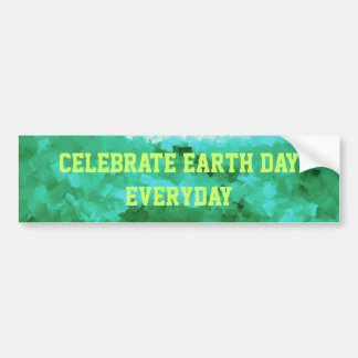 Earth Day Everyday Tranquil Reflections Bumper Sticker
