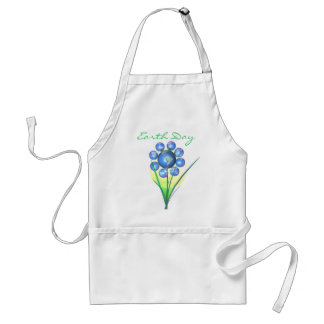Earth Day Flower Adult Apron