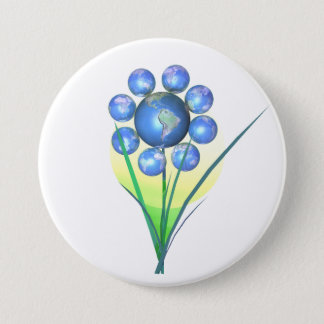 Earth Day Flower Button