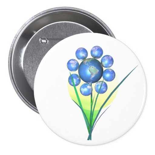 Earth Day Flower Pin