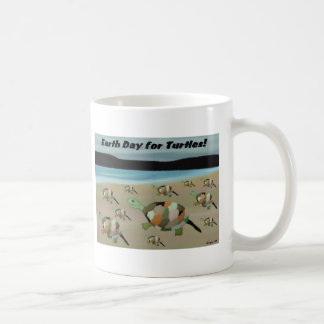 Earth Day for Turtles Coffee Mugs