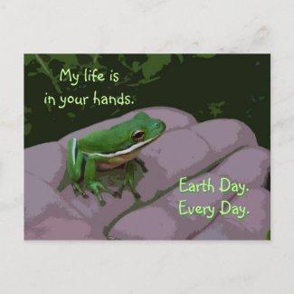 Earth Day Frog Postcard postcard