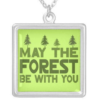 Earth Day Geek Silver Plated Necklace