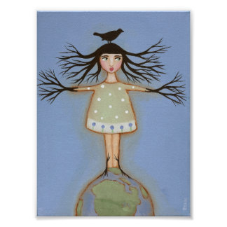 Earth Day Girl Poster