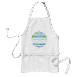 Earth Day Globe Adult Apron